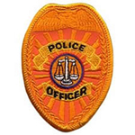Hero's Pride POLICE OFFICER - Reflective Gold - 2-1/2 X 3-1/2