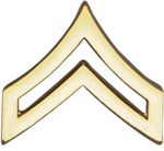 Hero's Pride Insignia - Cpl. Chevron - Tall w/Point - 2 Clutch
