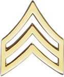 Hero's Pride Insignia - Sgt. Chevron - Tall w/Point - 2 Clutch