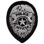 Hero's Pride POLICE OFFICER Badge - Silver on Black