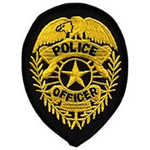 Hero's Pride POLICE OFFICER Badge - Gold on Black