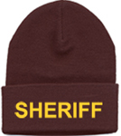 Hero's Pride Brown Hat with Embroidered Gold