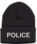 Hero's Pride Black Knit Hat with Embroidered White