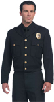 United Uniform LAPD Navy Button Front Ike Jacket