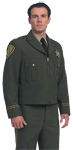 United Uniform LAPD Navy Zipper Front Ike Jacket (Green Shown)